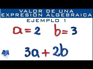 Valor numérico de expresiones algebraicas. Ejemplo 1