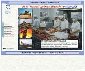Las actividades económicas de España – Conocimiento del medio – 3º Ciclo de E. Primaria – Unidad didáctica.
