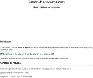 Método de reducción (sistemas de ecuaciones)
