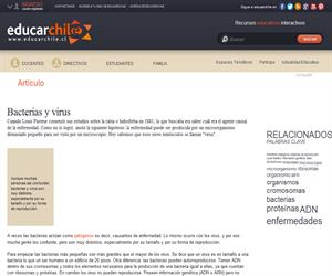 Bacterias y virus (Educarchile)