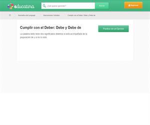 DEBER/DEBER DE
