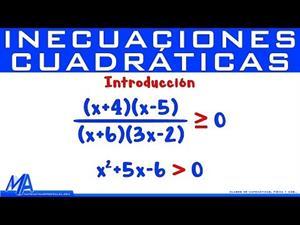Inecuaciones Cuadráticas e Inecuaciones Racionales | Introducción