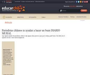 Periodistas chilenos te ayudan a hacer un buen DIARIO MURAL (Educarchile)