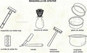 Maquinilla de afeitar (Diccionario visual)