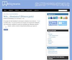 Web... ¿Semántica? (Primera parte) | BiblogTecarios. Evelio Martínez