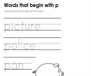 Activity sheet - Standard Font - letter P (Educarchile)
