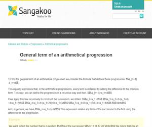 General term of an arithmetical progression