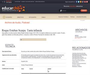 Roque Esteban Scarpa. Tanta infancia (Educarchile)