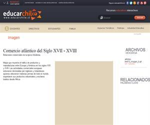 Comercio atlántico del Siglo XVII - XVIII (Educarchile)