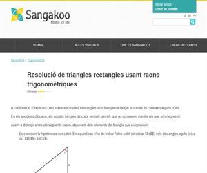 Resolució de triangles rectangles usant raons trigonomètriques