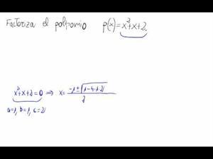 Factorización de un polinomio de grado 2