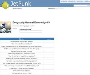 Geography General Knowledge 9