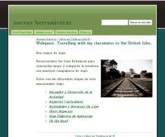 Webquest. Travelling with my classmates to the British Isles. - nuevas herramientas