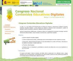 Ricardo A. Maturana participa en el Congreso Nacional de Contenidos Educativos Digitales (Mérida, 4-6 de octubre de 2012)