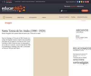 Santa Teresa de los Andes (1900 - 1920) (Educarchile)