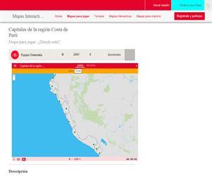 Mapa de la región Costa del Perú