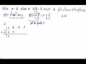 División de polinomios usando la regla de Ruffini