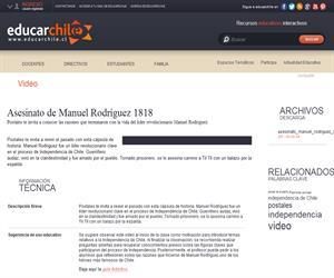Asesinato de Manuel Rodríguez 1818 (Educarchile)