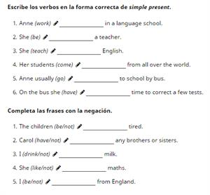 Simple Present - Affirmative and negative