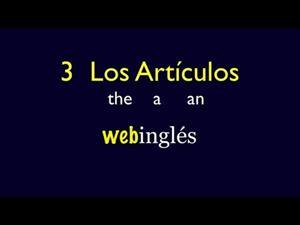 Los artículos the, a, an. Inglés Básico