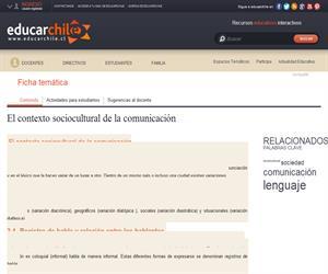 El contexto sociocultural de la comunicación (Educarchile)