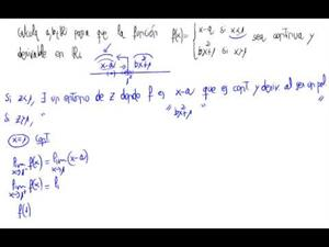 Continuidad, derivabilidad y parámetros