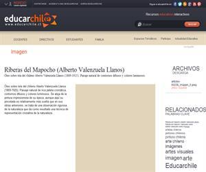 Riberas del Mapocho (Alberto Valenzuela Llanos) (Educarchile)