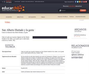 San Alberto Hurtado y la gente (Educarchile)
