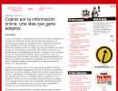 'Cobrar por la información online, una idea que gana adeptos' (Laura Pintos, 233grados.com)
