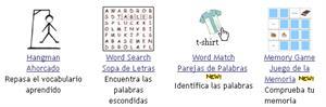 Juegos gratis en línea para aprender vocabulario en inglés.