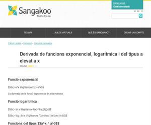 Derivada de funcions exponencial, logarítmica i del tipus a elevat a x