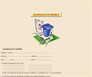 Cuestionario de estudios