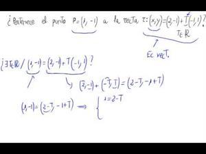 ¿Pertenece un punto a una recta?