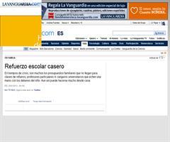 Refuerzo escolar casero | La Vanguardia