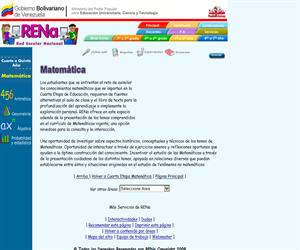 RENA. Red educativa venezolana. Matemática