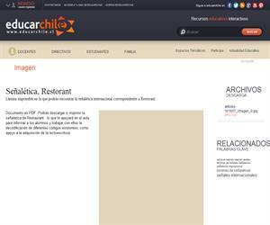 Señalética, Restorant (Educarchile)