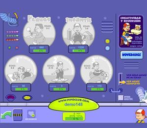 Demo Pipoclub. Juegos online.