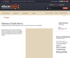 Madonna (Claudio Bravo) (Educarchile)