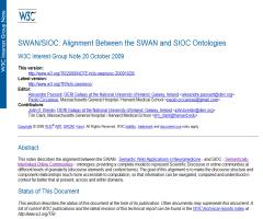 SWAN/SIOC: Alignment Between the SWAN and SIOC Ontologies