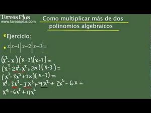 Cómo multiplicar más de dos polinomios algebraicos. Problema 5 de 15 (Tareas Plus)
