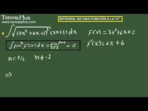 Integral de una función a la n. Ejercicio 9 de 15 (Tareas Plus)