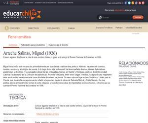 Arteche Salinas, Miguel (1926) (Educarchile)