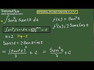 Integral de una función a la n. Ejercicio 13 de 15 (Tareas Plus)