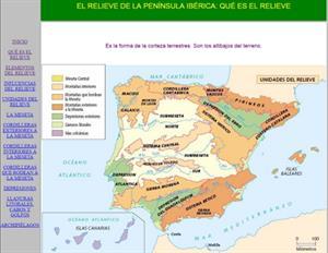 El relieve de la Península Ibérica (Educantabria)