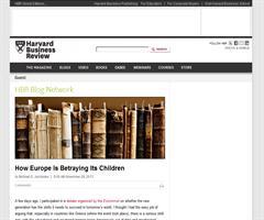 """Cómo Europa está """"traicionando"""" a sus hijos (Hardward Business Review)"""
