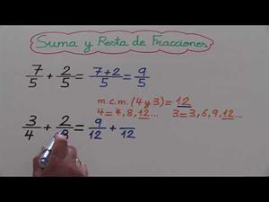 Suma, resta, multiplica y divide fracciones