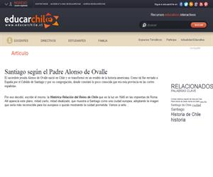 (art) Santiago según el Padre Alonso de Ovalle (Educarchile)