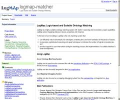 LogMap: Logic-based and Scalable Ontology Matching
