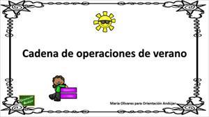 Cadena de operaciones: sumas y restas de verano