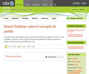 Noemí Goldman: sobre el concepto de pueblo